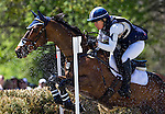 APRIL 26, 2014: INMIDAIR, ridden by Jan Byyny (USA), competes in the Cross County Test at the Rolex Kentucky 3-Day Event at the Kentucky Horse Park in Lexington, KY. Jon Durr/ESW/CSM