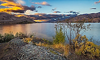Fine Art Landscape Photograph of the twlight hours on Skaha Lake in the Okanagan valley in British Columbia, Canada.<br />