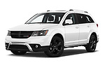 Stock pictures of low aggressive front three quarter view of 2020 Dodge Journey Crossroad 5 Door SUV Low Aggressive