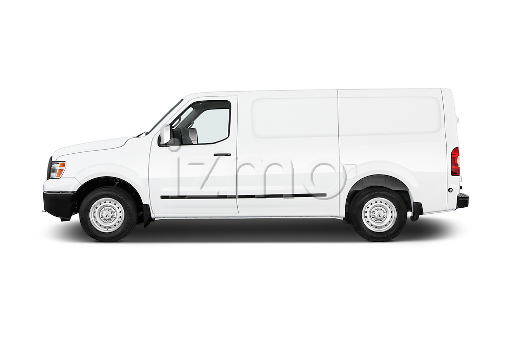 Car Driver side profile view of a 2015 Nissan NV Cargo 2500 Standard Roof S V6 Door Cargo Van Side View