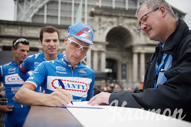 Enrico Gasparotto (ITA/Wanty-Groupe Gobert) at sign-in<br /> <br /> Brussels Cycling Classic 2015
