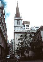 Sir Christopher Wren: St. Margaret Pattens, London, 1684-7, 1698-1702. Medieval style. Photo '90.