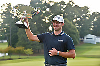 5th September 2021: Atlanta, Georgia, USA;  Patrick Cantlay lifts the FedEx Cup trophy after winning the PGA Tour Championship on Sunday, September 5, 2021 at East Lake Golf Club in Atlanta, GA. (Photo by Austin McAfee/Icon Sportswire)