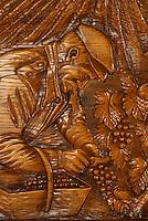 Europe/France/Champagne-Ardenne/51/Marne/Epernay: Champagne Nicolas Feuillatte - Gravure sur bois du vendangeur