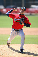 March 21st 2008:  Nick Fellman of the Atlanta Braves minor league system during Spring Training at Tiger Town in Lakeland, FL.  Photo by:  Mike Janes/Four Seam Images