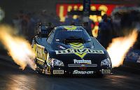 Oct. 31, 2008; Las Vegas, NV, USA: NHRA funny car driver Tony Pedregon during qualifying for the Las Vegas Nationals at The Strip in Las Vegas. Mandatory Credit: Mark J. Rebilas-