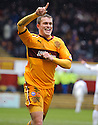 MOTHERWELL'S NICKY LAW CELEBRATES AFTER HE SCORES MOTHERWELL'S FIFTH GOAL
