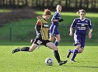 RSC Anderlecht Dames - WD Lierse SK : Lien Mermans aan de bal.foto DAVID CATRY / Vrouwenteam.be