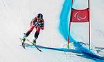 Alana Ramsay, PyeongChang 2018 - Para Alpine Skiing // Ski para-alpin.<br /> Alana Ramsay skis in the women's standing super-G // Alana Ramsay skie dans le super-G debout des femmes. 11/03/2018.