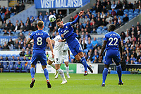 Sean Morrison of Cardiff City in action during the Premier League match between Cardiff City and Burnley at Cardiff City Stadium in Cardiff, Wales, UK. Sunday 30 September 2018