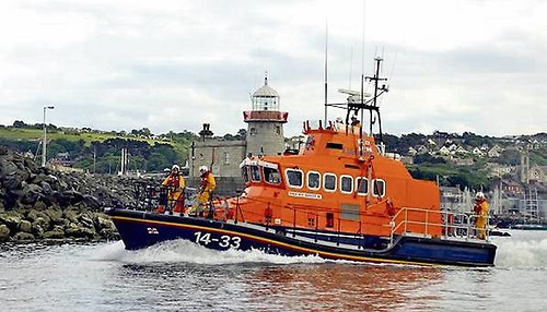The Howth RNLI all weather lifeboat