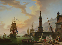 Full title: A Seaport<br /> Artist: Attributed to Claude-Joseph Vernet<br /> Date made: later 18th century