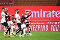 Rafael Leao of AC Milan scores a goal <br /> Serie A football match between AC Milan and Spezia Calcio at San Siro Stadium in Milano  (Italy), October 4th, 2020. Photo Image Sport / Insidefoto