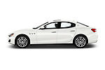 Car driver side profile view of a 2018 Maserati Ghibli Base 4 Door Sedan