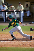 Siena Saints center fielder Dan Swain (22) during a game against the UCF Knights on February 21, 2016 at Jay Bergman Field in Orlando, Florida.  UCF defeated Siena 11-2.  (Mike Janes/Four Seam Images)
