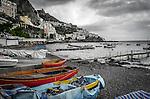 The beautiful coastline and town of Amalfi on the Amalfi Coast in Italy.
