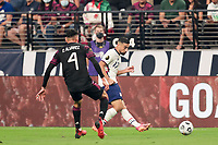 LAS VEGAS, NV - AUGUST 1: Sebastian Lletget #17 of the United States plays the ball during a game between Mexico and USMNT at Allegiant Stadium on August 1, 2021 in Las Vegas, Nevada.