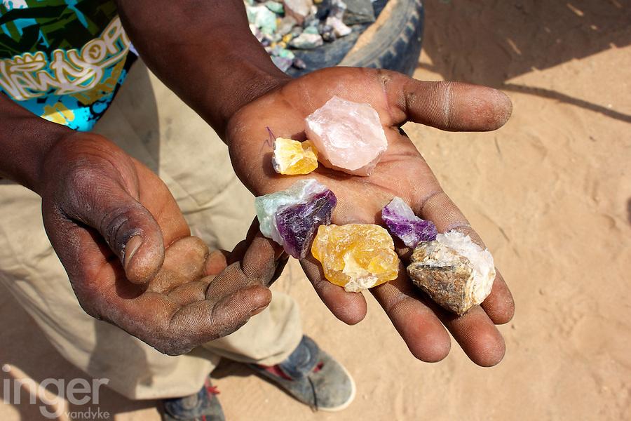 Gemstone Seller in Namibia