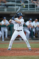Braxton Giavedoni (23) of the Penn State Nittany Lions at bat against the Xavier Musketeers at Coleman Field at the USA Baseball National Training Center on February 25, 2017 in Cary, North Carolina. The Musketeers defeated the Nittany Lions 10-4 in game one of a double header. (Brian Westerholt/Four Seam Images)