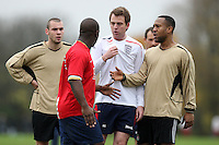 Players of Gascoyne FC (gold) and Mile End FC are seen during a disagreement at Hackney Marshes - 16/11/08 - MANDATORY CREDIT: Gavin Ellis/TGSPHOTO - Self billing applies where appropriate - Tel: 0845 094 6026