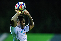 Friday 27 October 2017<br /> Pictured: Tyler Reid of Swansea throws the ball in. <br /> Re: Swansea City U23 v Everton U23 Premier League 2 match at the Landore Training facility, Swansea, Wales, UK