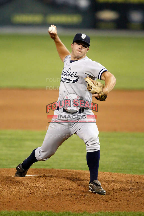 August 15, 2009:  Pitcher Ben Watkins of the Staten Island Yankees delivers a pitch during a game at Dwyer Stadium in Batavia, NY.  Staten Island is the Short-Season Class-A affiliate of the New York Yankees.  Photo By Mike Janes/Four Seam Images