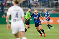 TACOMA, WA - JULY 31: Dani Weatherholt #17 of the OL Reign looks on during a game between Racing Louisville FC and OL Reign at Cheney Stadium on July 31, 2021 in Tacoma, Washington.