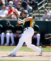 Cliff Pennington - Oakland Athletics - 2009 spring training.Photo by:  Bill Mitchell/Four Seam Images