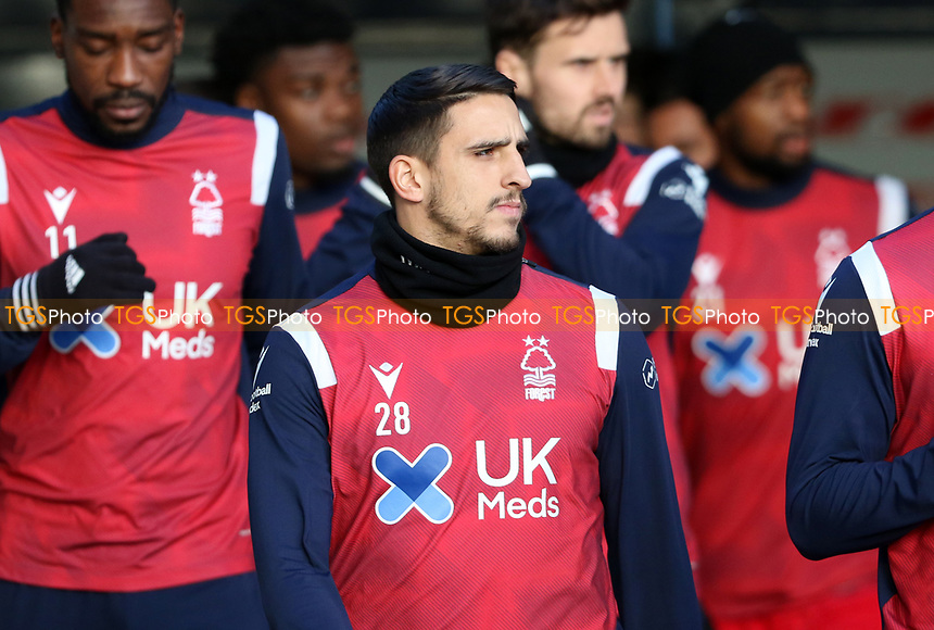 Anthony Knockaert of Nottingham Forest coming out to warm up during Millwall vs Nottingham Forest, Sky Bet EFL Championship Football at The Den on 19th December 2020
