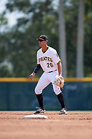 Pittsburgh Pirates shortstop Kevin Kramer (26) during an Instructional League game against the New York Yankees on September 28, 2017 at Pirate City in Bradenton, Florida.  (Mike Janes/Four Seam Images)