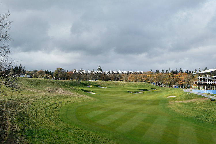 General views of the de-rig of the PGA Centenary Course, Gleneagles following the 2014 Ryder Cup which was played over the PGA Centenary Course at Gleneagles from 23rd to 28th September 2014: Picture Stuart Adams www.golftourimages.com: 25th October 2014