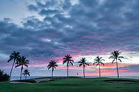 Sunset at  the Hilton Waikoloa Beach Golf Resort. Hawaii, The Big Island