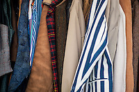 Hay on Wye, UK. Wednesday 01 June 2016<br /> Pictured:  Selection of second hand clothes <br /> Re: The 2016 Hay festival take place at Hay on Wye, Powys, Wales