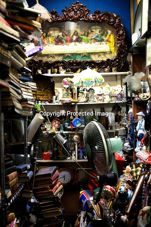 Memorabilia and other Antique items seen available for sale at Angel Spirits Antique Store in Cubao Expo in Quezon city in Manila, Philippines. Photo: Sanjit Das