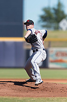 Scottsdale Scorpions starting pitcher J.B. Bukauskas (41), of the Houston Astros organization, delivers a pitch during an Arizona Fall League game against the Peoria Javelinas at Peoria Sports Complex on October 18, 2018 in Peoria, Arizona. Scottsdale defeated Peoria 8-0. (Zachary Lucy/Four Seam Images)