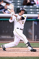 April 27, 2009:  Freddy Sandoval of the Salt Lake Bees, Pacific Cost League Triple A affiliate of the Los Angeles (Anaheim) Angles, during a game at the Spring Mobile Ballpark in Salt Lake City, UT.  Photo by:  Matthew Sauk/Four Seam Images