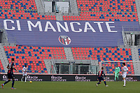 A banner with the inscription Ci mancate ( we miss you ) dedicated to Bologna fans is seen on the stands during the Serie A football match between Bologna FC and AC Milan at Renato Dall'Ara stadium in Bologna (Italy), January 30th, 2021. Photo Andrea Staccioli / Insidefoto