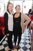 """NO REPRO FEE. 26/5/2011. NEW EDDIE ROCKET'S SHAKE SHOP. Maureen Farrell and Ciara Walsh are pictured in the new Eddie Rocket's Shake Shop. The design seeks to recall the vintage milkshake bars from 1950's America and re-imagine them for the 21st century. The new look aims to appeal to both young and old with a quirky and bold colour scheme and a concept of make-your-own milkshakes, based on the tag line """"You make it...We shake it!"""". Eddie Rocket's City Diner in the Stillorgan Shopping Centre in south Dublin has re-opened after an exciting re-vamp and the addition of a Shake Shop. Ten new jobs have been created with the Diner's re-launch bringing the total working in Eddie Rocket's Stillorgan to 30. Picture James Horan/Collins Photos"""