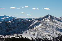 Aerial Rocky Mountains, Collegiate Range. Nov 2012