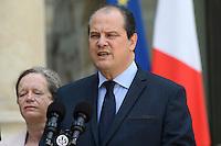 Paris (75),Le President de la Republique, Franeois HOLLANDE, recoit samedi 25 juin 2016 les representants des partis politiques francais au Palais de l Elysee. Parti Socialiste: Jean-Christophe CAMBADELIS, Pervenche BERES,