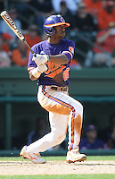 Outfielder Chris Epps (26) of the Clemson Tigers in a game against the Michigan State Spartans on Sunday, Feb. 27, 2011, at Fluor Field in Greenville, S.C. Photo by Tom Priddy/Four Seam Images