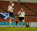 14/01/2006         Copyright Pic: James Stewart.File Name : sct_jspa15_clyde_v_stjohnstone.THOMAS BRIGHTON AND STEVEN MASTERTON CELEBRATE AFTER CLYDE'S FIRST..... MASTERTON'S SHOT DEFLECTED OFF BRIGHTON BEFORE GOING IN....Payments to :.James Stewart Photo Agency 19 Carronlea Drive, Falkirk. FK2 8DN      Vat Reg No. 607 6932 25.Office     : +44 (0)1324 570906     .Mobile   : +44 (0)7721 416997.Fax         : +44 (0)1324 570906.E-mail  :  jim@jspa.co.uk.If you require further information then contact Jim Stewart on any of the numbers above.........