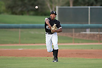 AZL White Sox third baseman Bryce Bush (61) makes a throw to first base during an Arizona League game against the AZL Athletics at Camelback Ranch on July 15, 2018 in Glendale, Arizona. The AZL White Sox defeated the AZL Athletics 2-1. (Zachary Lucy/Four Seam Images)