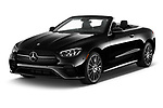 2021 Mercedes Benz E-Class-Cabriolet E450 2 Door Convertible Angular Front automotive stock photos of front three quarter view