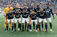 FOXBOROUGH, MA - SEPTEMBER 29: New England Revolution starting eleven during a game between New York City FC and New England Revolution at Gillettes Stadium on September 29, 2019 in Foxborough, Massachusetts.