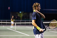 Rotterdam, The Netherlands, 2 march  2021, ABNAMRO World Tennis Tournament, Ahoy, Practice: Stefanos Tsitsipas (GRE).<br /> Photo: www.tennisimages.com/henkkoster