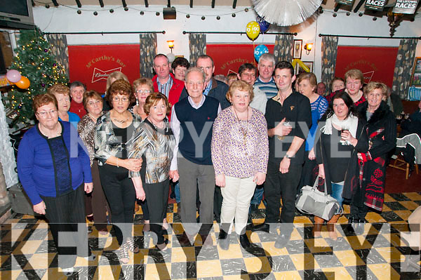 90th Birthday : Mossie Kennelly, Kilgarvan, ballylongford celebrating his 90th birthday with family & friends at McCarthy's Bar, Finuge on Saturday night last.