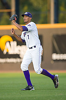 Right fielder Salvador Sanchez #7 of the Winston-Salem Dash catches a fly ball at Wake Forest Baseball Stadium August 8, 2009 in Winston-Salem, North Carolina. (Photo by Brian Westerholt / Four Seam Images)