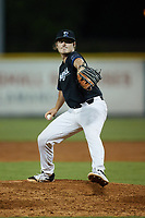 Bluefield Ridge Runners relief pitcher Justin Coleman (27) (Bluefield) in action against the Burlington Sock Puppets at Burlington Athletic Park on June 8, 2021 in Burlington, North Carolina. (Brian Westerholt/Four Seam Images)