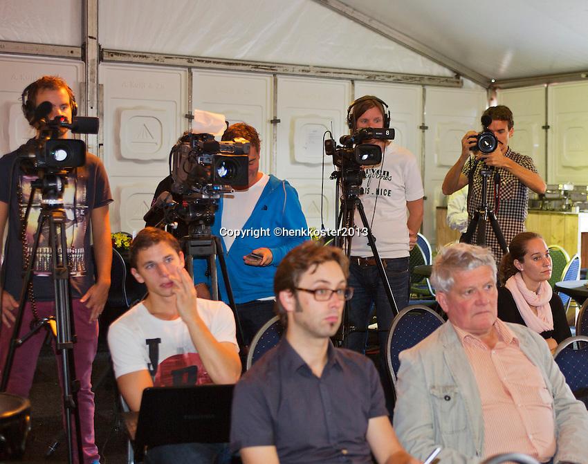 03-09-13,Netherlands, Alphen aan den Rijn,  TEAN, Tennis, Tean International Tennis Tournament 2013, Tean International ,   Press-conference Davis cup NED-AUT, <br /> Photo: Henk Koster